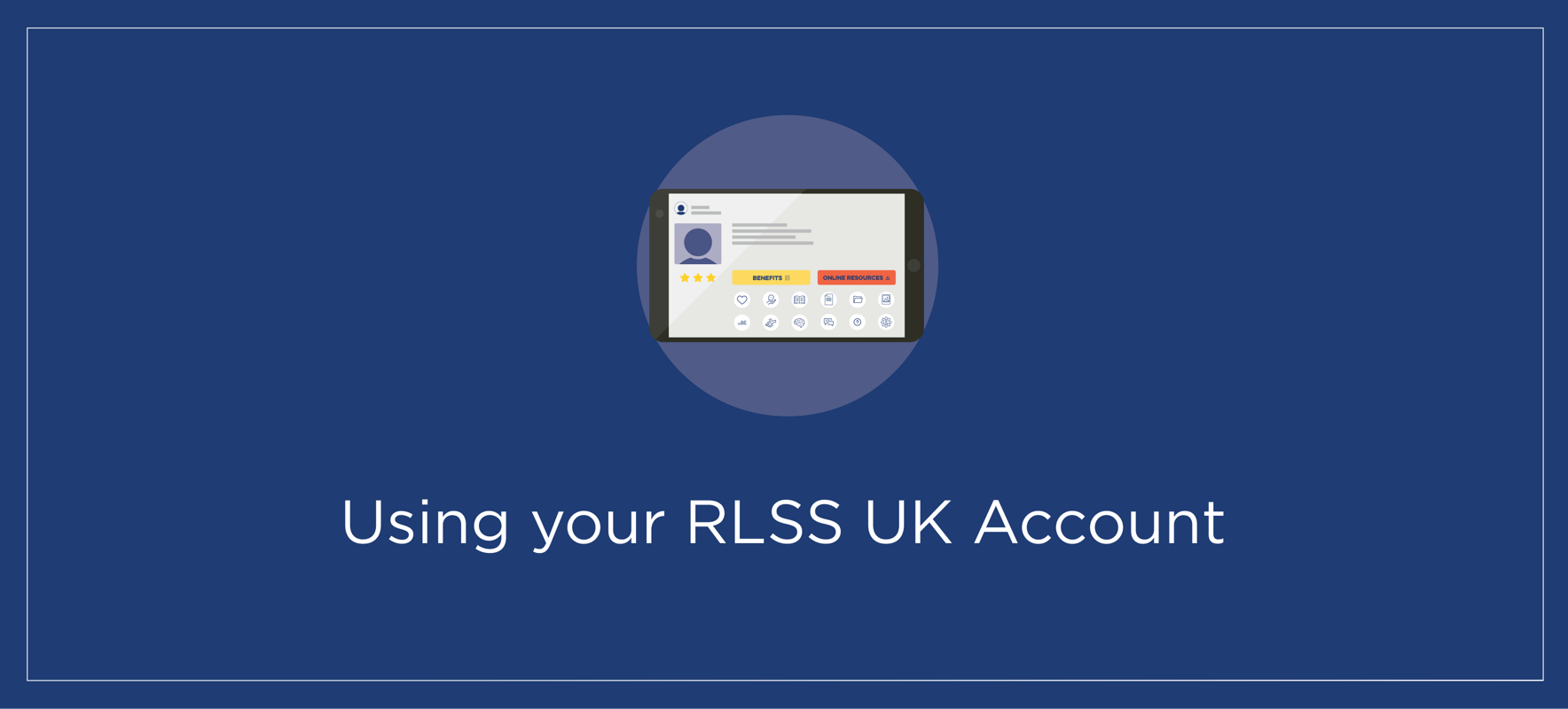 Using your RLSS UK Account (powered by tahdah)