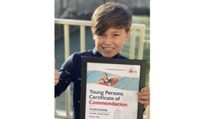 Royal Life Saving Society UK awards young hero