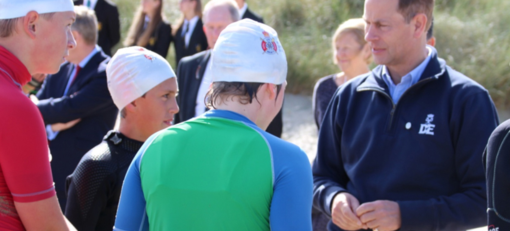 Lifesaving Display for Prince Edward on Duke of Edinburgh Tour