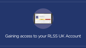 Gaining access to your RLSS UK Account (powered by tahdah)