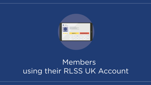 Members using their RLSS UK Account (powered by tahdah)