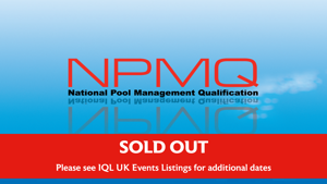 National Pool Management Qualification (NPMQ), 26, 27, 29 & 30 April 2021